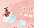 Mural Fly Away roze 340x270