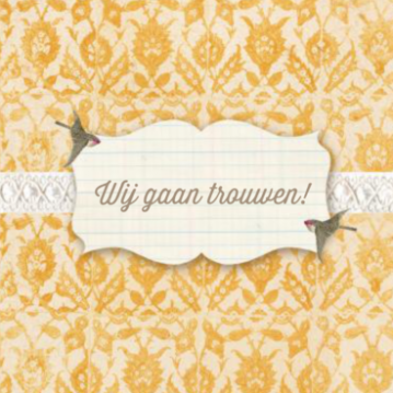 Trouwkaart | Patroon | Oker